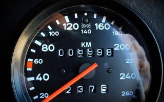1989 Porsche 911 Speedster odometer